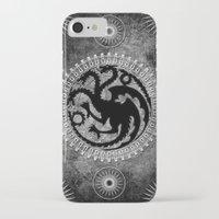 daenerys targaryen iPhone & iPod Cases featuring House Targaryen by Micheal Calcara