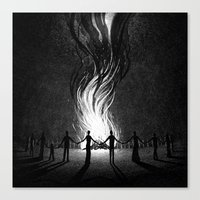 witch Canvas Prints featuring Witch by Brian Luong