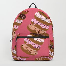 Stacked Donuts on Cherry Backpack