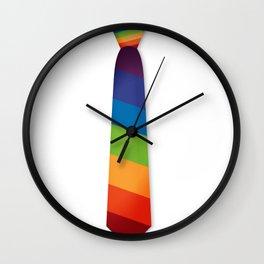 Equality LGBT Gay Lesbian Pride Tie Rainbow Flag Wall Clock