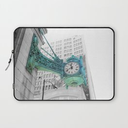The Blue Chicago Clock Laptop Sleeve