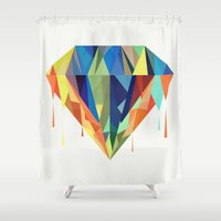 diamond Shower Curtains featuring Diamond by By Nordic