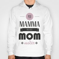 mom Hoodies featuring Mom by Lilian Lund Jensen