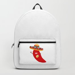 Cinco De Mayo Pepper Design Backpack