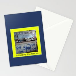 Blue Bitch Bar, St. Maartin Resort Travel Stationery Cards