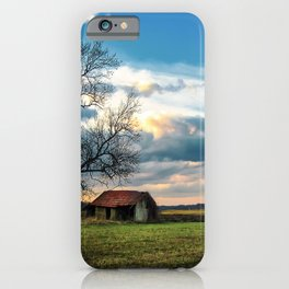 An old hut in the field iPhone Case