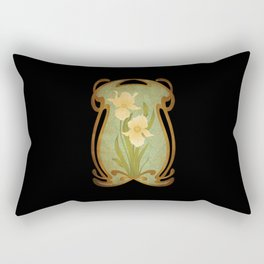 Art Nouveau Flowers Rectangular Pillow