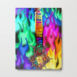 Fusion Keyblade Guitar #194 - Eternal Flame & Combined Keyblade Metal Print