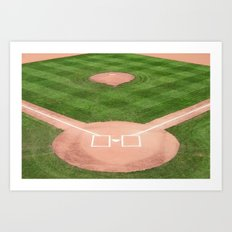 Baseball field /Baseballfeld Art Print