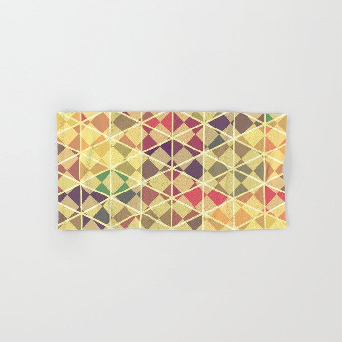 Rainbow pattern colorful wall art Hand & Bath Towel