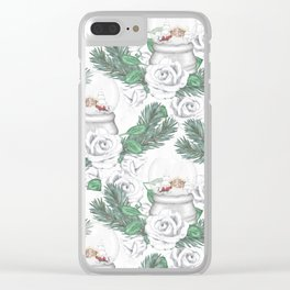 Snow globes and roses Clear iPhone Case