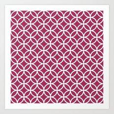 Circles Pink Art Print
