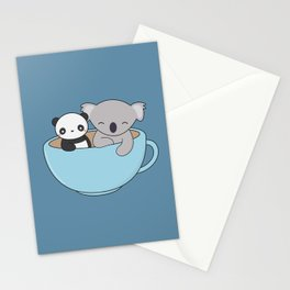 Kawaii Cute Koala and Panda Stationery Cards