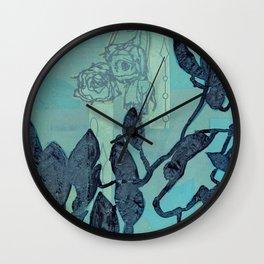 Indigo Vines Wall Clock