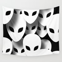 aliens Wall Tapestries featuring Aliens Phantoms by ZionMade