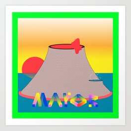Volcano Mayor Art Print