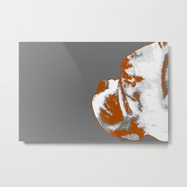 Orange and gray Boxer Metal Print