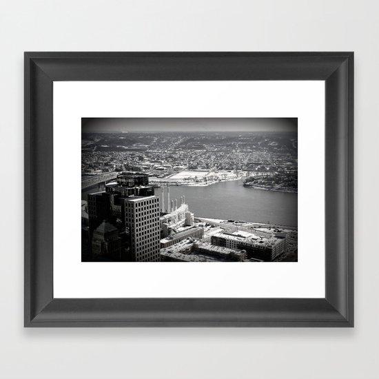 Cincinnati - Downtown #1 Framed Art Print