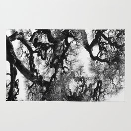 Tree of Japan (black and white edit) Rug