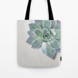Succulent botanic print grey Tote Bag