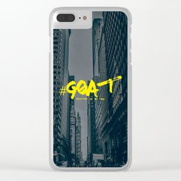 G.O.A.T (Greatest Of All Time) Urban Font Clear iPhone Case