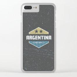 Argentina World Futbol Soccer Clear iPhone Case