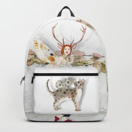 Deer Woman and Butterfly Cat Backpack