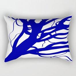 Classic Blue Tree Rectangular Pillow