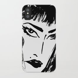 M with bangs iPhone Case