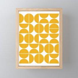 Mid Century Modern Geometric 04 Yellow Framed Mini Art Print