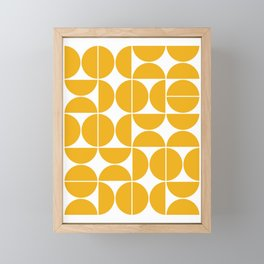 Mid Century Modern Geometric 04 Yellow Framed Mini Art Print