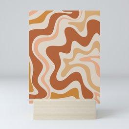 Liquid Swirl Abstract in Earth Tones Mini Art Print