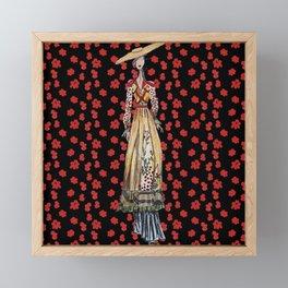 Fashion illustration long dress Framed Mini Art Print
