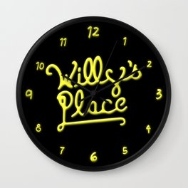Willy's Place Wall Clock