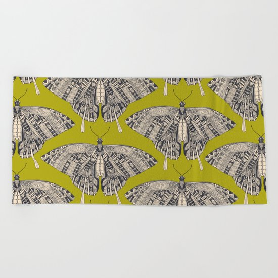 swallowtail butterfly citron basalt Beach Towel