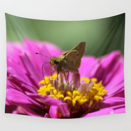 Skipper Butterfly In The Garden Wall Tapestry