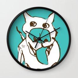 Citydog - turquise Wall Clock