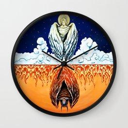 Duality: Angel/Devil (Color) II Wall Clock