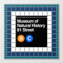 subway natural history sign Canvas Print