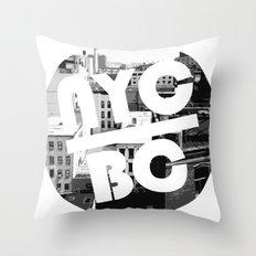 NYC Broken Comedy Throw Pillow