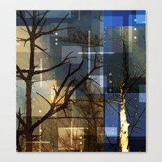 Posterize Dead Trees Canvas Print