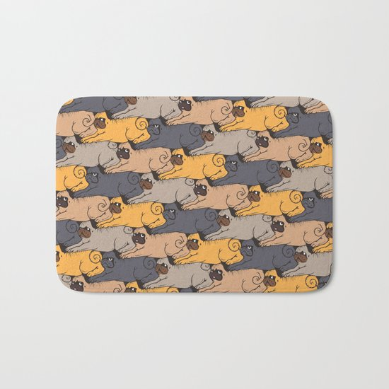 Pugs Tessellations Bath Mat