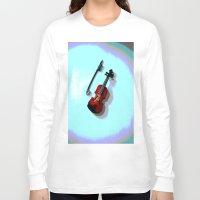 violin Long Sleeve T-shirts featuring Violin by Vitta