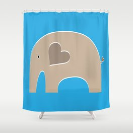 Blue Safari Elephant 2 Shower Curtain
