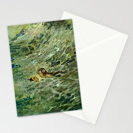 """""""The Mermaid in the Sea"""" by Edmund Dulac Stationery Cards"""