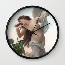 Dawn by William Adolphe Bouguereau (Nude Art) Wall Clock