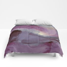 """""""Spring abstract in pink and purple"""" Comforters"""