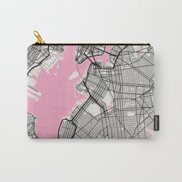 New York - United States Neapolitan City Map Carry-All Pouch
