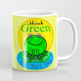 Earth Day Environmental World Global Frog Art Poster Coffee Mug
