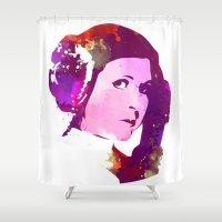 princess leia Shower Curtains featuring LEIA ORGANA, Princess by BIG Colours
